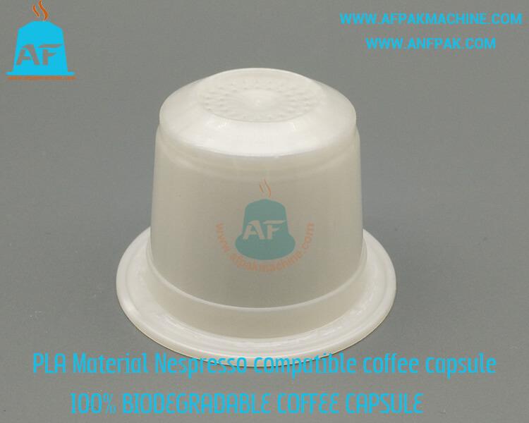 biodegradable coffee capsule side