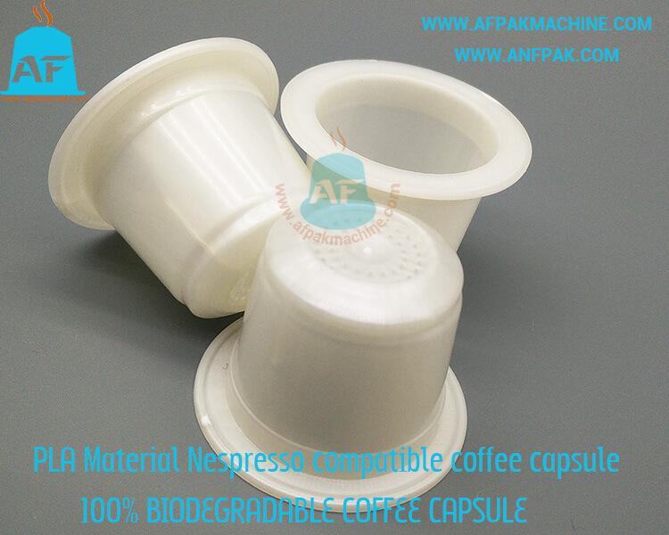 empty biodegradable coffee capsule