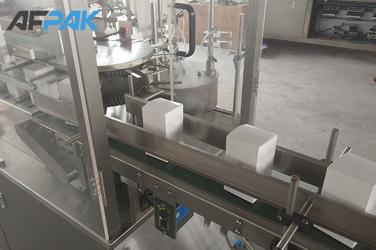 Output of box packaging machine