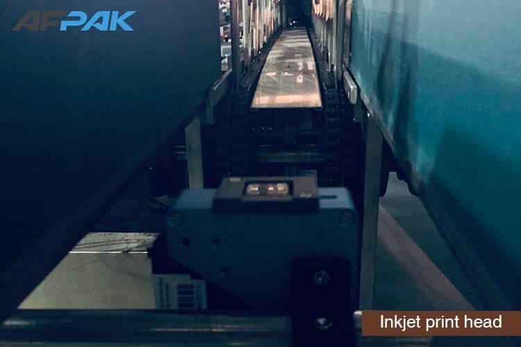 Inkjet print head of K cup packaging machine