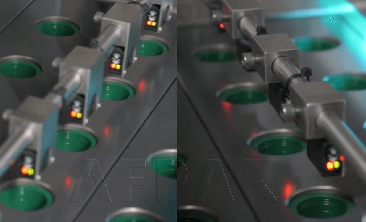 Cup-sensor of coffee capsule packaging machine