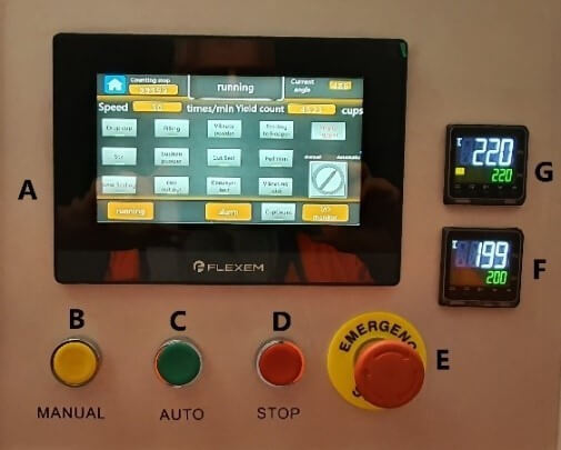 Figure 3. Control Panel of coffee capsule filling sealing machine
