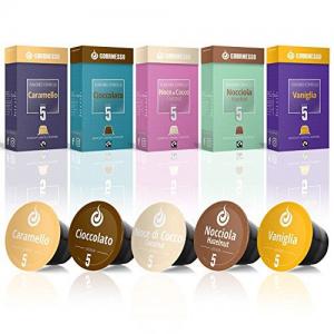 Best Flavored: Gourmesso 50 Fairtrade Flavored Espresso Capsules