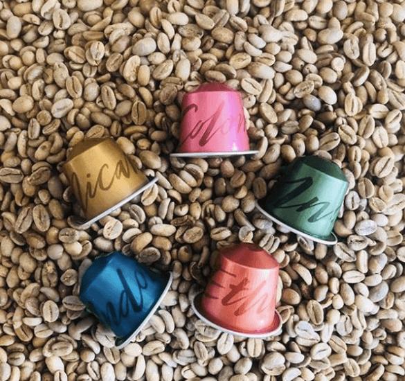 Nespresso origin coffee capsules