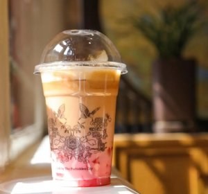 Corner Tower Cafe of the Forbidden City Begonia drink