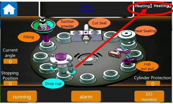 Screen of K cup manuacturing machine