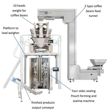 VT52 coffee beans packing machine