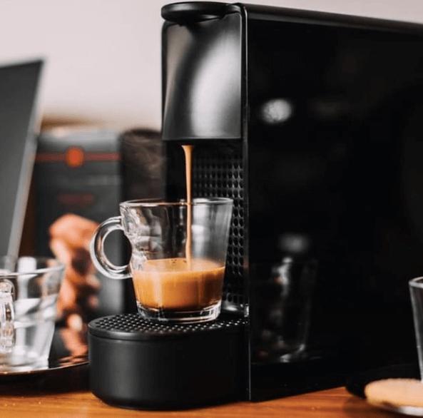 Nespresso capsules brewing