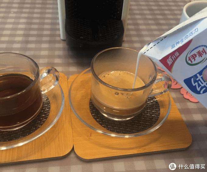 add milk into Nespresso coffee