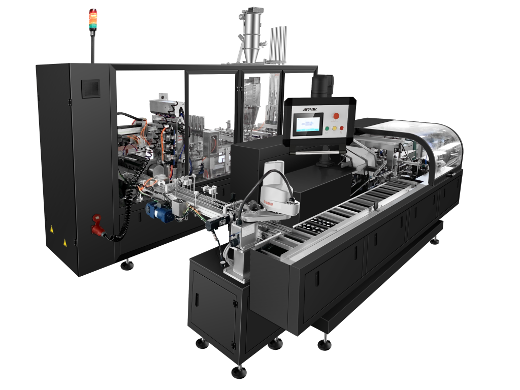 Nespresso filling sealing carton packaging machine