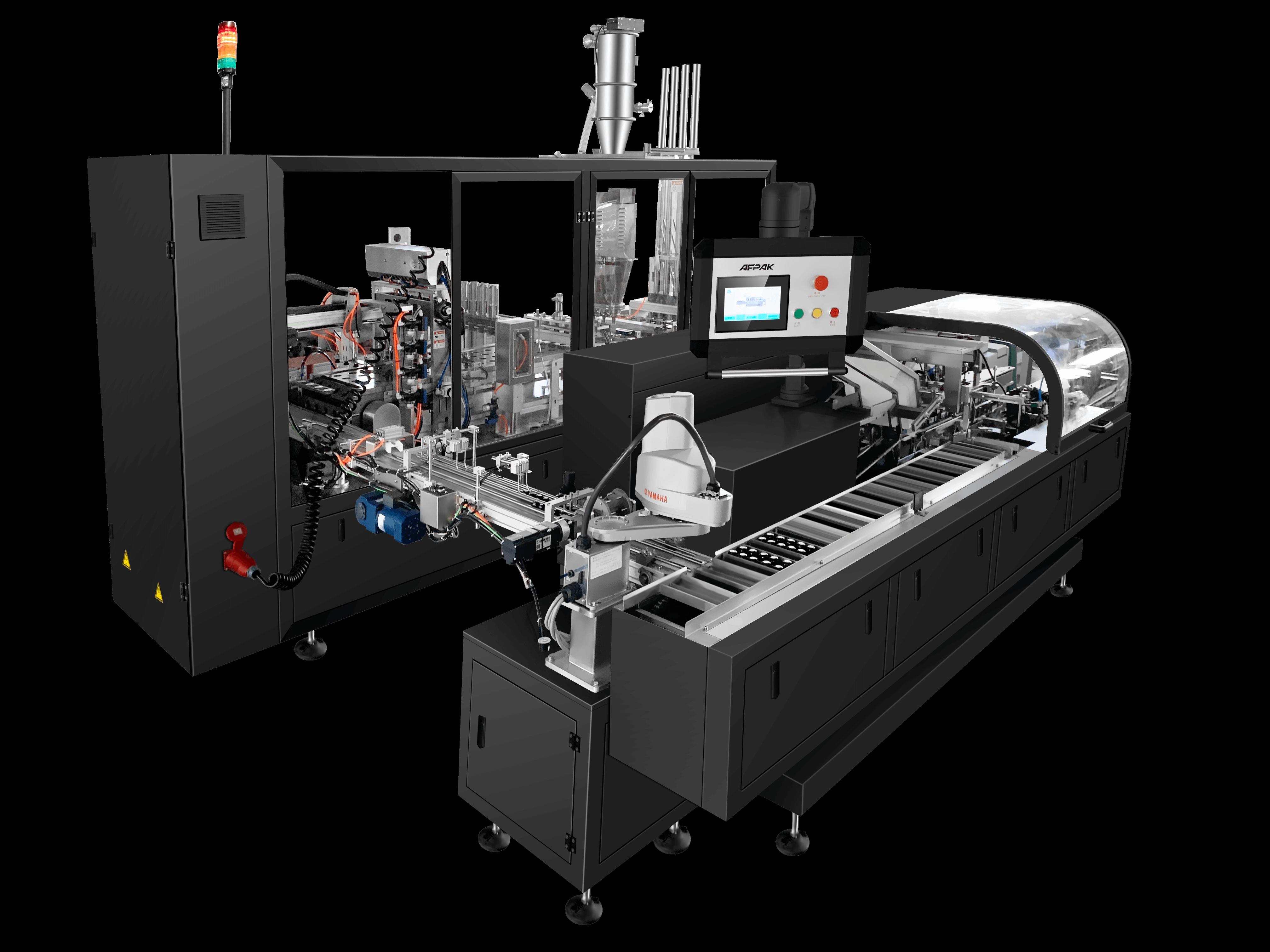 Nespresso filling sealing carton packaging machine