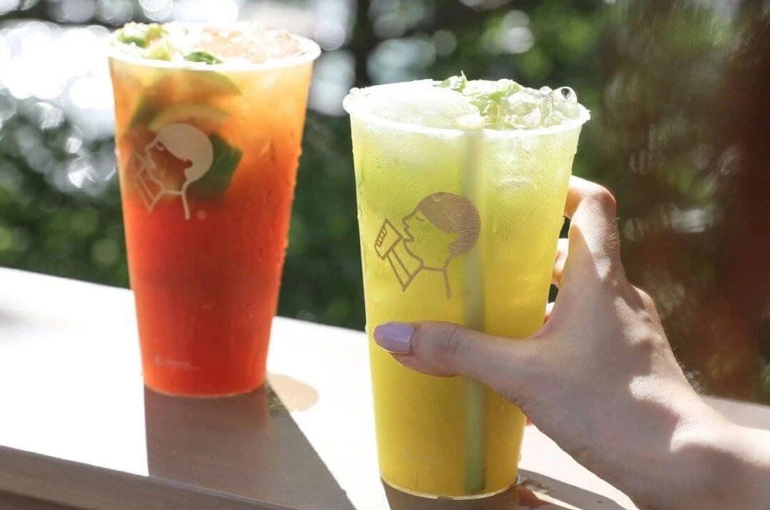 heytea lemon tea drink